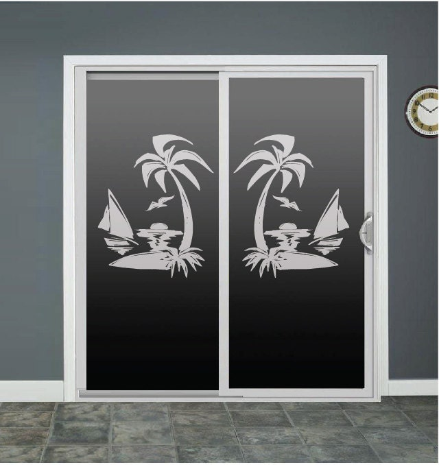 Glass door sliding glass door decals inspiring photos for Door mural stickers