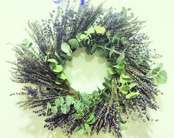 Lavender, Rosemary and Eucalyptus Wreath and Centerpiece