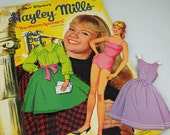 Paper Dolls, Hayley Mills Child Star, Walt Disney Star Paper Dolls, 1964 Paper Dolls Excellent Condition  #2