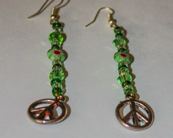 Peace symbol earrings