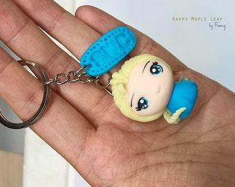Custom Disney Princess with polymer clay | Elsa | Belle | Merida | Cartoon Chibi | Custom name