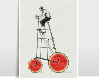 "A3 Artprint ""Melon bike"""