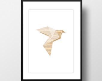 "Artprint ""Origami dove"""