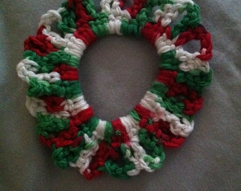 Handmade holiday-themed hair scrunchie