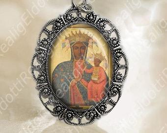 Our Lady of Czestochowa Virgin Mary Medal Christian Catholic Jewelry