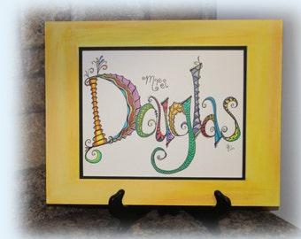 Teacher Name Gift, End of Year Teacher Gift, Teacher Appreciation, Classroom Decor, Classroom Art, Teacher Gift, Back to school