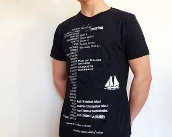 Shipping forecast T shirt