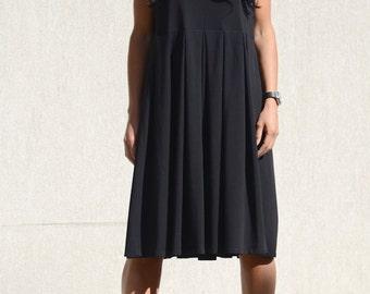 loose midi dress, Black tunic dress, tunic dress, loose tunic dress, loose tunic, plus size tunic, knee length dress, black tunic dress