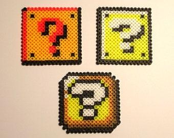 SUPER MARIO BROS. - Question [?] Block (Pixel Bead Sprite)