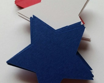 Star Shape Die Cut Outs ( 4th of July Decor, Embellishments, Confetti, Crafting )