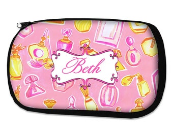 Personalized Makeup Bag Bridesmaid Gifts Teacher Gift Graduation Gift Personalized Cosmetic Bag