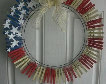 Fourth of July Door Wreath