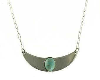 Danecraft Sterling Mottled Glass Necklace