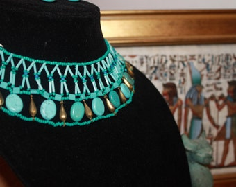 Ipuy Lotus  Recreation Egyptian collar necklace