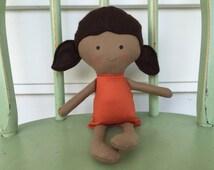 Latino, Hispanic, handmade rag doll, perfect for imaginative play!