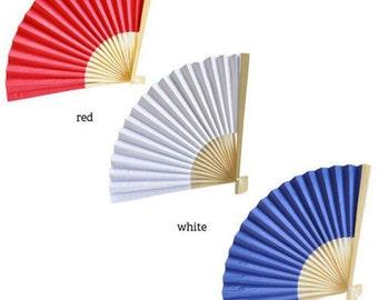 Patriotic Paper Fans (12 pack)