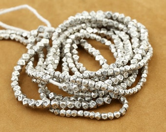 925 Sterling Silver Bead Thai Silver Faceted Spacer Beads High Quality Y246