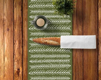 Woodland Table Runner, Rustic Table Runner, Rustic Dining Room, Scandinavian Table Runner, Scandinavian Dining Room, Graphic Kitchen