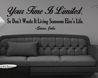 Steve Jobs Quote Wall Decal
