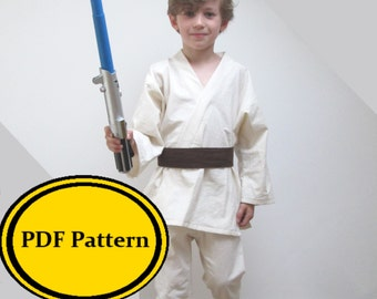 Jedi Costume Sewing Pattern Star Wars Luke Skywalker Anakin Childrens Dress Up Pdf Digital Download Obi Wan Kenobi