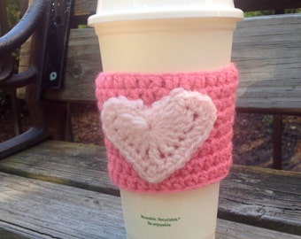 Valentine's Day Coffee Cozy Sleeve