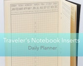 Daily Planner {A6 Size} Printable Traveler's Notebook Insert Booklet