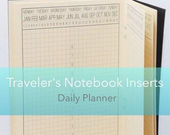 Daily Planner {Standard Size} Printable Traveler's Notebook Insert Booklet