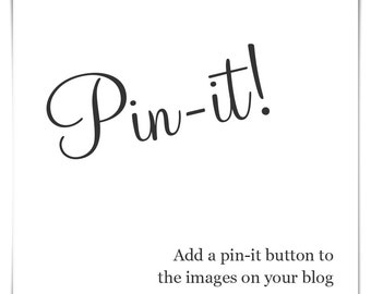 Add Pinterest hover button