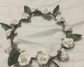 Flower crown (white)