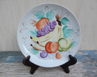 Vibrant Hand Painted Fruit Plate!
