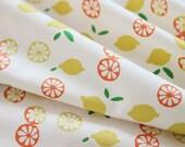 Lemon Pattern Cotton Fabric by Yard