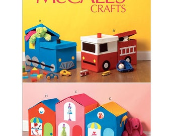 McCall's Sewing Pattern M6806 Toy Storages
