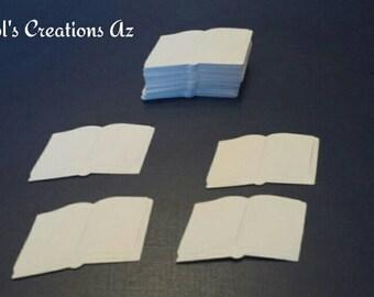 50 Open Book Chunky Confetti / Open Book Die Cut / Bible Die Cut / Bible Confetti / ANY COLOR