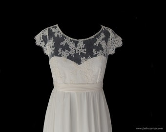 Wedding dress, size empire and Halter