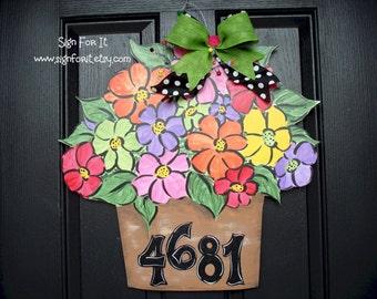 Floral Bouquet Door Sign