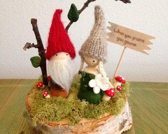 When You Gnome you Gnome! Cake Topper