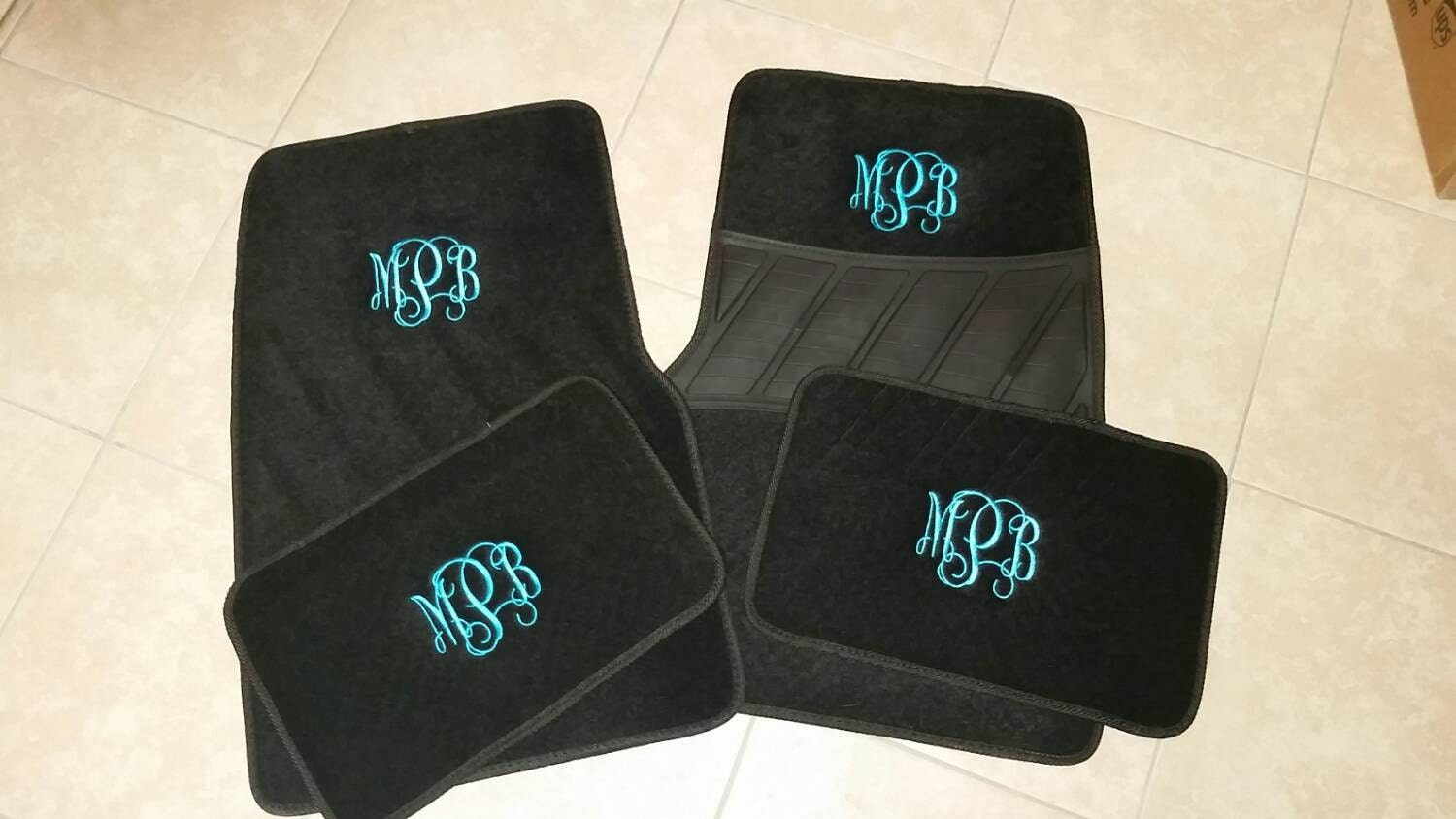 Monogram Floor Mats Embroidered Car Mat Carpet Mat For Car