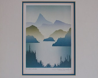Serigraphy Peter Markgraph-Ruby Lake