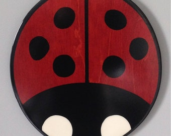 Ladybug - ladybug wood sculpture - modern ladybug art