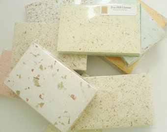 Handmade Recycled Paper - 40 sheet Scrap Pack -  Craft Pack, Homemade Paper