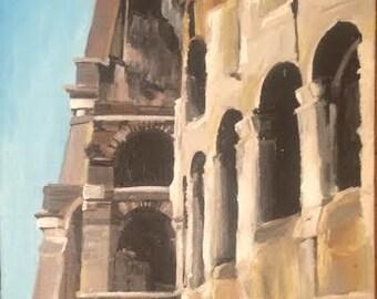 Original Acrylic Painting Rome, Italy 16 X 20