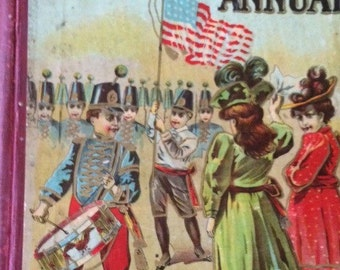 The New American Childrens Annual Copyright 1902  Antique Book