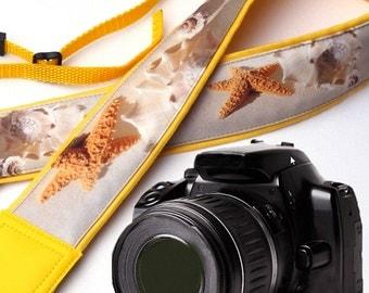 DSLR / SLR Camera Strap. Sea Camera Strap. Beach camera strap. Camera accessories. Photographer gift. Shell
