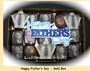 "MONEY GIFT Made with Real Money. ""Happy Father's Day"" Box-O-Bucks, Sunday, 17 Jun 2018. Surprise Dad with this Fun and Delightful Gift."