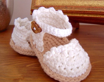 CROCHET PATTERN Baby Espadrille Sandals instant download Baby shoes pattern photo tutorial