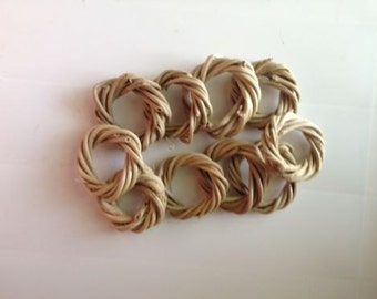 Vine Rings Natural (qty 10) Bird Toy Parts