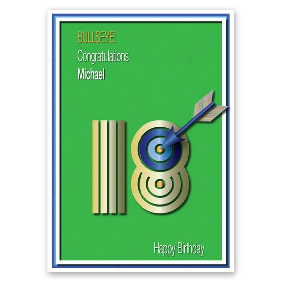 Personalised 18th Happy Birthday Card for boy son nephew – 18th Birthday Cards for Boys