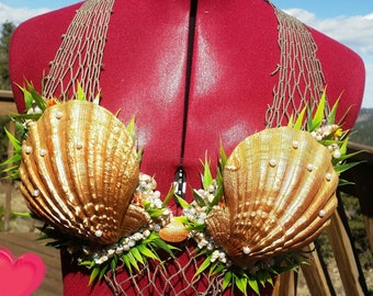 Custom seashell mermaid top
