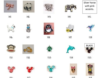 Floating Locket Charms 141-160