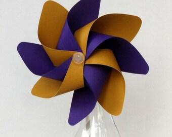 Pinwheel, Purple & Gold Pinwheel